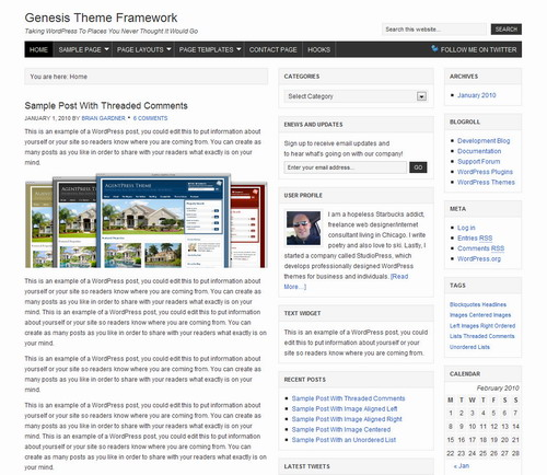 Genesis Theme Framework   StudioPress Premium WordPress Theme