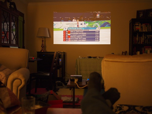 The Winter Olympics on projector