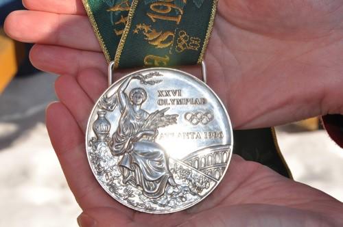 Christine Larsen's silver medal