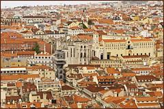 The rooftops of Lisbon (Bert Kaufmann) Tags: city panorama portugal rooftops lisboa lisbon capital castelo lissabon stad cityview daken hoofdstad flickrsbest stadsbeeld