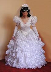 (blackietv) Tags: wedding white girl ruffles bride dress crossdressing tgirl transvestite romantic gown bridal hochzeit crossdresser petticoat braut brautkleid fullskirt