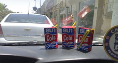 sun cola (brhomnew) Tags: sun car that see cola you drink eat saudi arabia about 51 50 52 tempreture        cacacola  tempreature