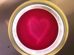 Heart- Clostridium perfringens in blood agar (Uka wonderland) Tags: red blood heart bacteria microbiology clostridium cperfringens