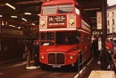 RML2463 on route 16 , 1980's. (Ledlon89) Tags: bus london transport victoria routemaster lt parkroyal londonbus aec