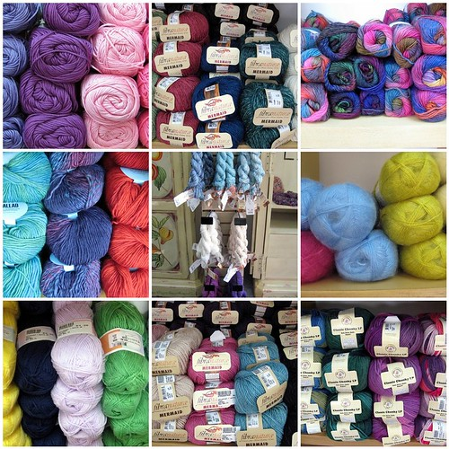 some of our new gorgeous yarns!