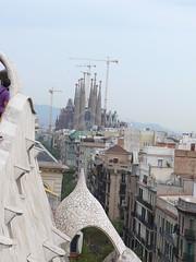 Barcelona - Sagrada Famlia - View from the Casa Mil (chrigischuler) Tags: barcelona casamil sagradafamlia