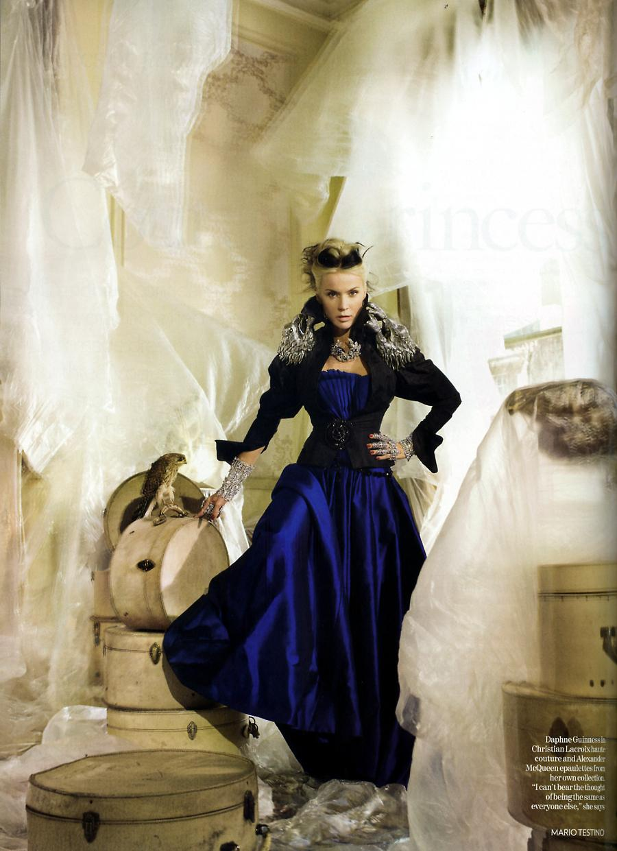 Daphne Guinness in Lacroix