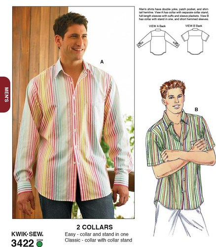 Kwik Sew 3422 Mens Shirts