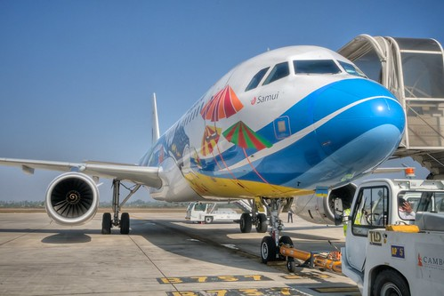 Our Bangkok Airways Plane to Thailand
