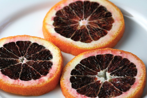 trio of blood orange slices