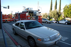 LOS ANGELES FIRE DEPARTMENT (LAFD) & LOS ANGELES POLICE DEPARTMENT (LAPD) FORD CROWN VICTORIA POLICE INTERCEPTOR (Navymailman) Tags: city ford car la los angeles police vehicle l law enforcement department cruiser blvd lapd reseda crownvictoria tarzana crownvic policeinterceptor a losangelespolicedepartment losangelescityfiredepartment