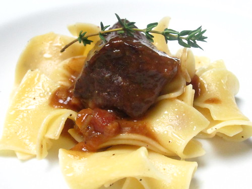 Beef Carbonnade with buttered noodles