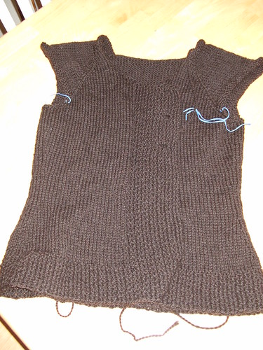 Bulky Asymetric Sweater w/o sleeves