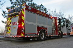 brand new Pumper 103 (HANGAR ENT.) Tags: new ontario canada ford truck t fire photography photo  911 aerial ambulance mississauga ems siren 103 107 pumper atphotography