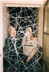 Doorway. (DJ Bass) Tags: stockings doors doorway tape gag pranks folks 1990s 90s pranksters