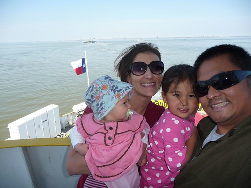 us on a ferry.
