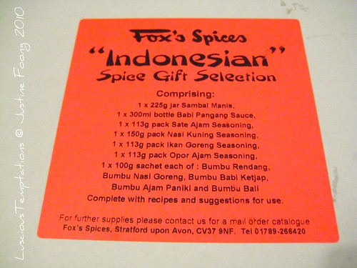 Indonesian Spice Box