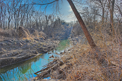 Gravois Creek, at Gravois Creek Conservation Area, in Saint Louis County, Missouri, USA - 5
