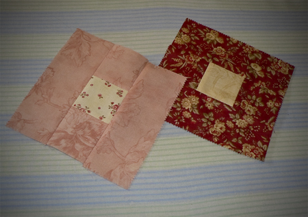 first quilt squares finished