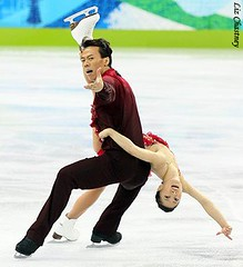 Shen and Zhao during their Olympic long program (Photo by Liz Chastney)