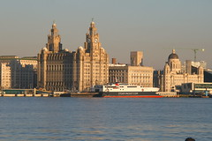 'Manannan' - Isle of Man Ferry - Liverpool (seentwistle) Tags: building water ferry liverpool river waterfront liver isleofman mersey 3graces seacombe manannan