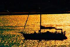 Costa Dorada Gold Coast (El Templario) Tags: sunset sea espaa water silhouette contraluz atardecer boat mar spain agua nikon barco sailing silueta navegar d80 mygearandmepremium mygearandmebronze mygearandmesilver