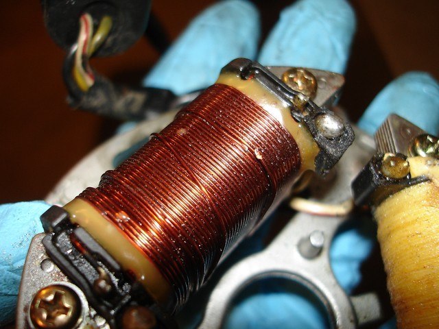 kdxrider net • view topic kdx lighting stator rewind how to now de er the ends of the coil wires the black ground wire can remain you want to clean all the old er off remove the old coil of wire