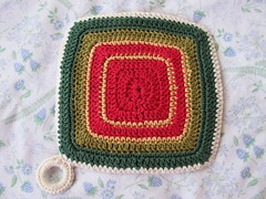Red Potholder - back