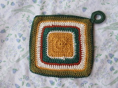 Golden Potholder - Back