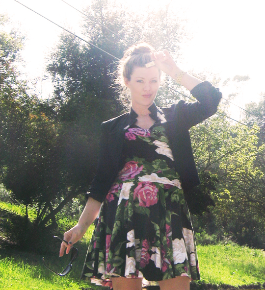 betsey johnson floral rose print dress 11