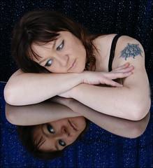me, reflected (helena.e) Tags: portrait reflection me mirror model explore jag helena portrtt helenae helenab