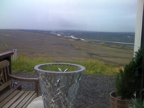 icelandic wasteland from the vantage of the bolti guesthouse
