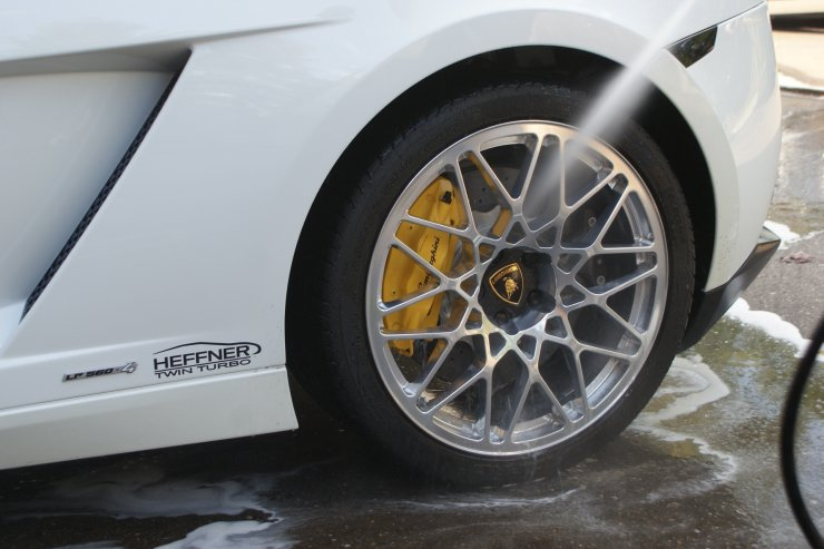 LP560 wheels rinse