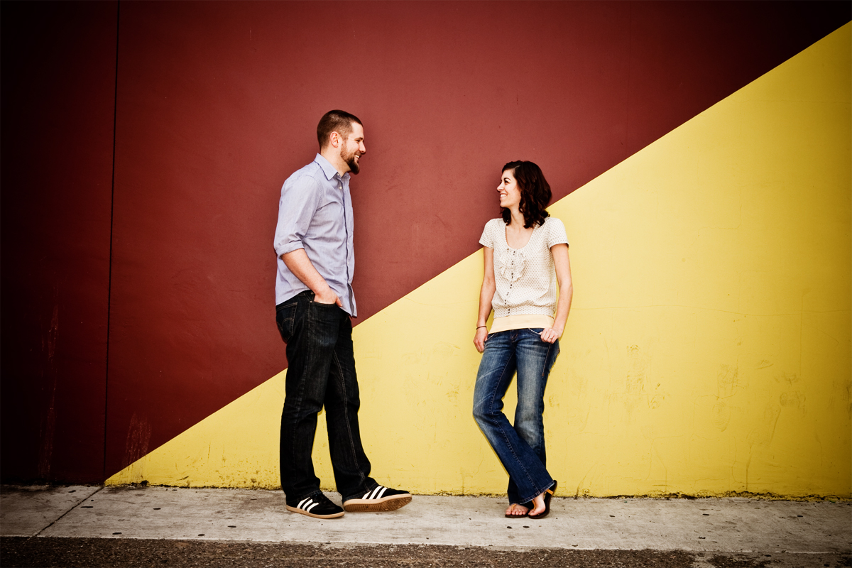 Michael and Jamie Engagement Session in Downtown Modesto