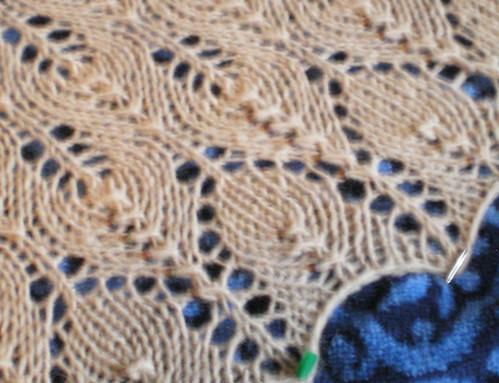 shetland shawl detail