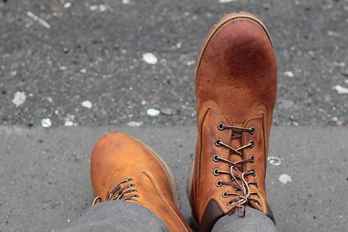 orange cloud wet rain norway fog boot sebastian bergen bryggen timberland mrseb