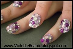 Purple Paving Nail Art (Violet LeBeaux) Tags: art princess nail violet nails paving jewels rhinestone rhinestones hime false overthetop syle japanesestyle gyaru diamantes lebeaux himegyaru japanesenailart  violetlebeaux wwwvioletlebeauxcom pavingnailart
