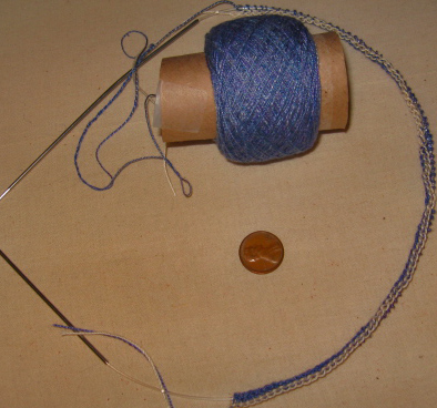 knitting silk start