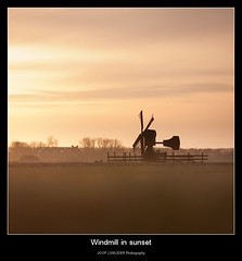Windmill in sunset (Joop Snijder) Tags: eve sunset sky orange cloud holland nature netherlands windmill field silhouette horizontal night landscape outside outdoors evening twilight europe dusk vibrant scenic thenetherlands peaceful tranquility ground nobody silence land backlit copyspace shape cloudscape texel westerneurope noordholland windenergy traditionalculture tranquilscene benelux northerneurope dewaal northholland ruralscene cultivatedland placeofwork dutchculture europeanculture spacefortext agriculturalbuilding