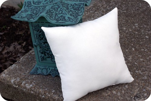 homemade pillow forms.
