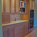 Cherry and Curly Maple Kitchen