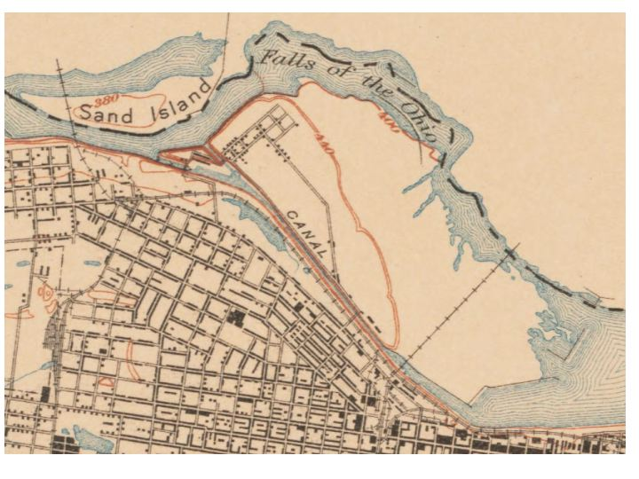 Falls Of The Ohio Map.The Falls Of The Ohio Mostly Maps Diagram For History Buff Only