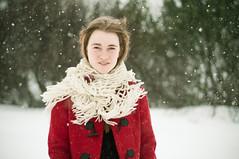 veur (jla ) Tags: red snow cute 50mm iceland nikon pretty bokeh coat f18 mh reykjavk icelandic vala d90 valavala