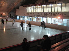 Skating at Centennial Arena