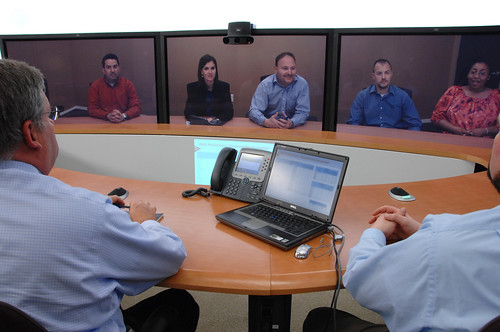Bank of America Cisco TelePresence Room