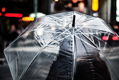 Cover (rasenkantenstein) Tags: winter light woman wet rain weather japan contrast umbrella dark tokyo ginza bokeh atmosphere clear transparent standard shape