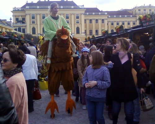 Ein großes Huhn
