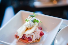 chilled lobster and banana tea sandwich (ZagatBuzz) Tags: newyork zagat mandarinoriental zagatpresents