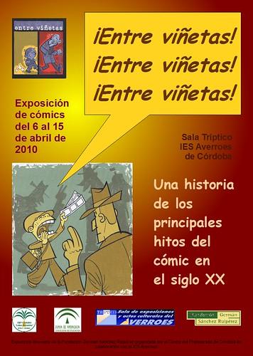 cartel entre viñetas