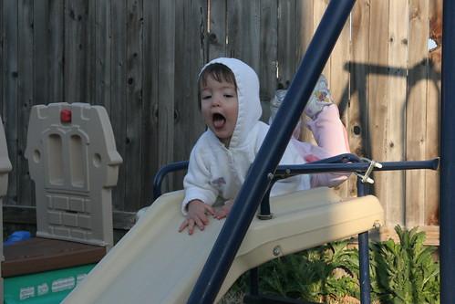 On the slide!